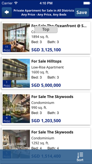 iProperty.com Singapore Property/Real Estate Search iPhone Screenshot 4