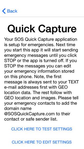 SOS Quick Capture