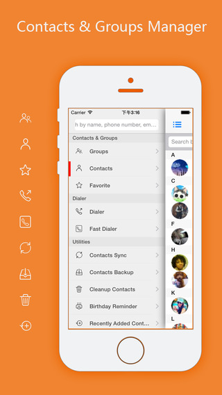 aContacts Pro - All-in-One Contacts Groups Manager includes Google Facebook Yahoo LinkedIn Contacts