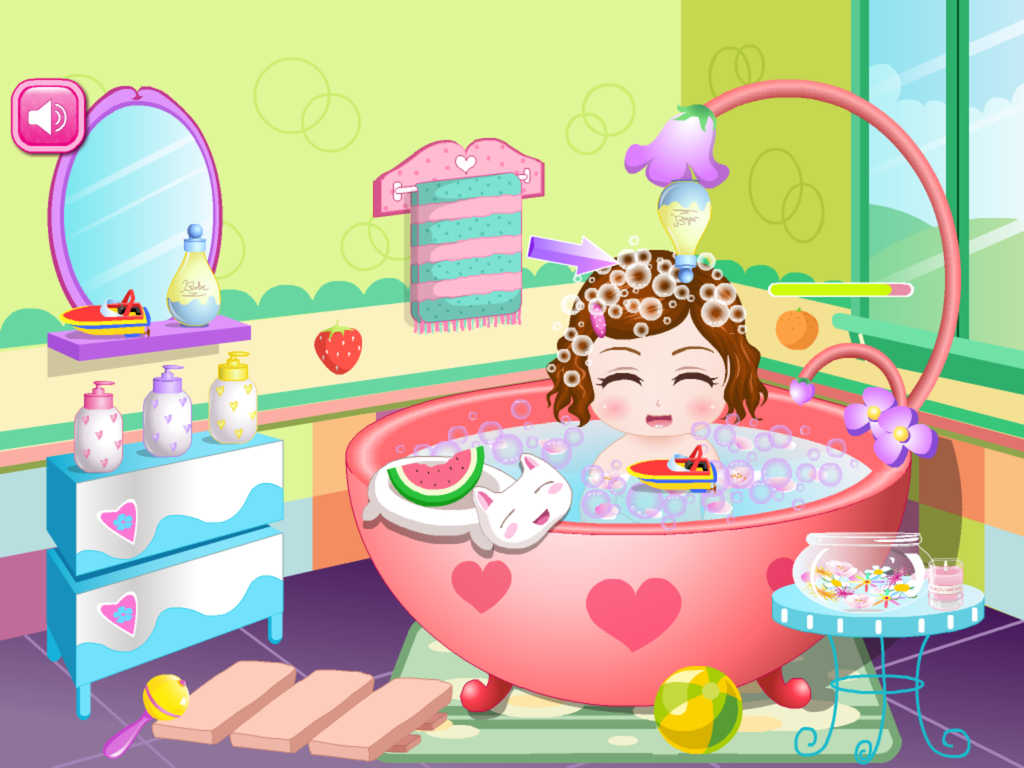 app shopper cute baby bathing game hd the hottest kids baby bathing game for girls and kids. Black Bedroom Furniture Sets. Home Design Ideas