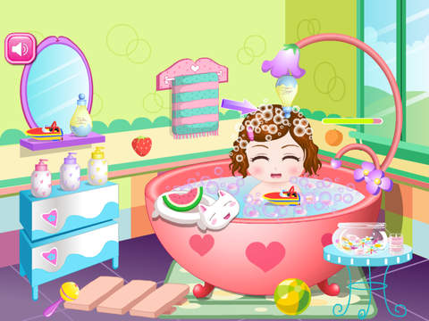 Cute Baby Bathing Game HD - The hottest kids baby bathing game for girls and kids