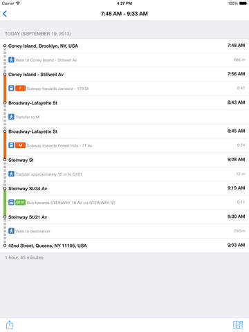 TransitTimes+ screenshot