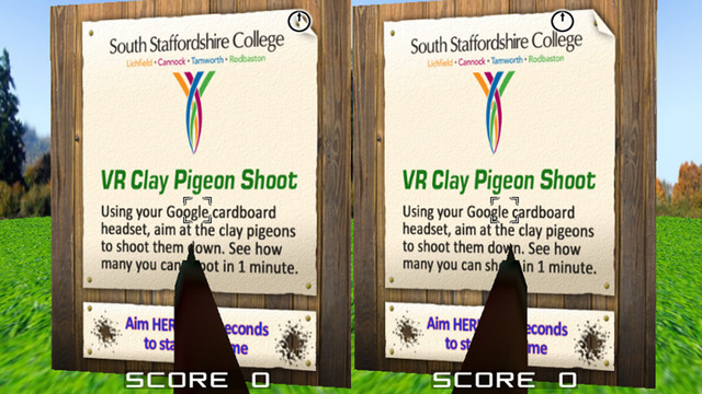 VR Clay Pigeon Shoot