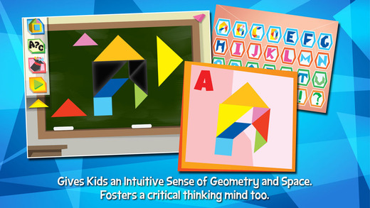 Kids Learning Puzzles: Alphabets - Tangram Building Blocks Make Your Brain Pop