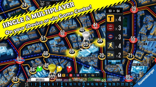 Scotland Yard 苏格兰场[iOS、Android] ¥6丨反斗限免