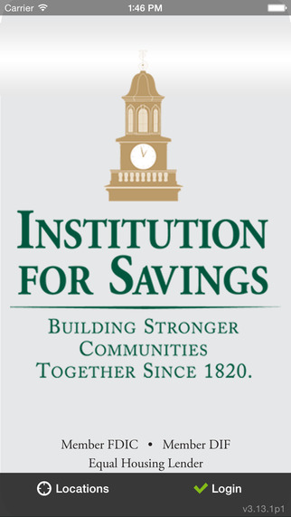 Institution for Savings goMobile Banking