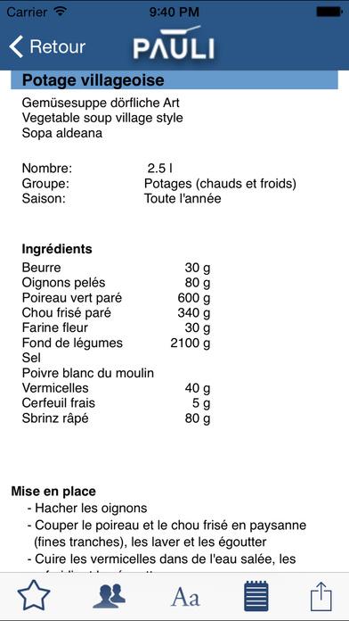 La cuisine classique iPhone Screenshot 3