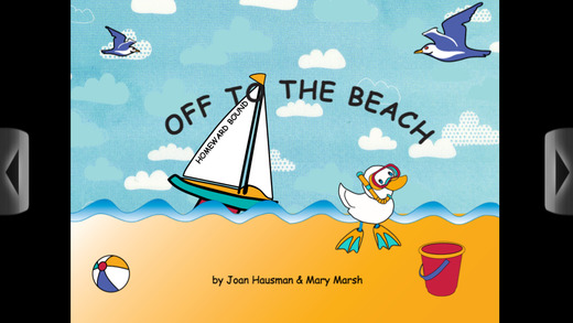 Off to the Beach - Interactive book app for children