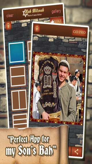 Bah Mitzvah Photo Frame and Collage Editor - Image App for your Bar or Bat