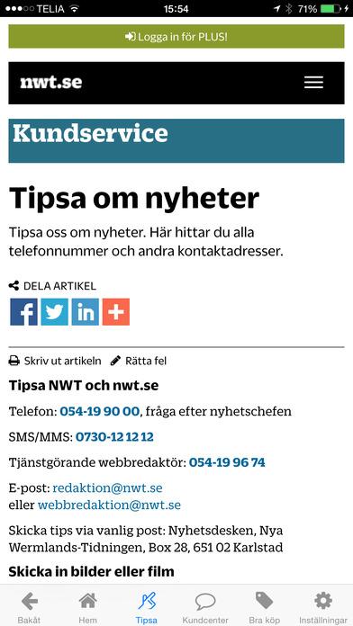 nwt.se - Senaste nytt iPhone Screenshot 1