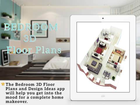 Bedroom 3D Floor Plans Design Ideas for iPad