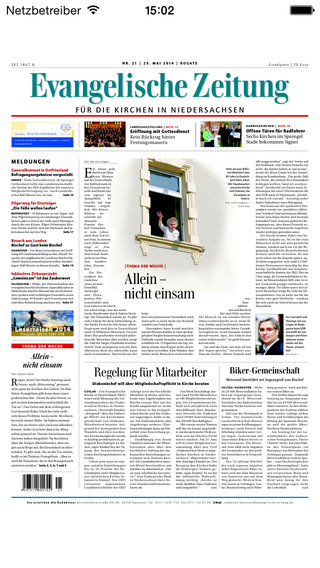 Evangelische Zeitung für die Landeskirchen Hannovers - epaper