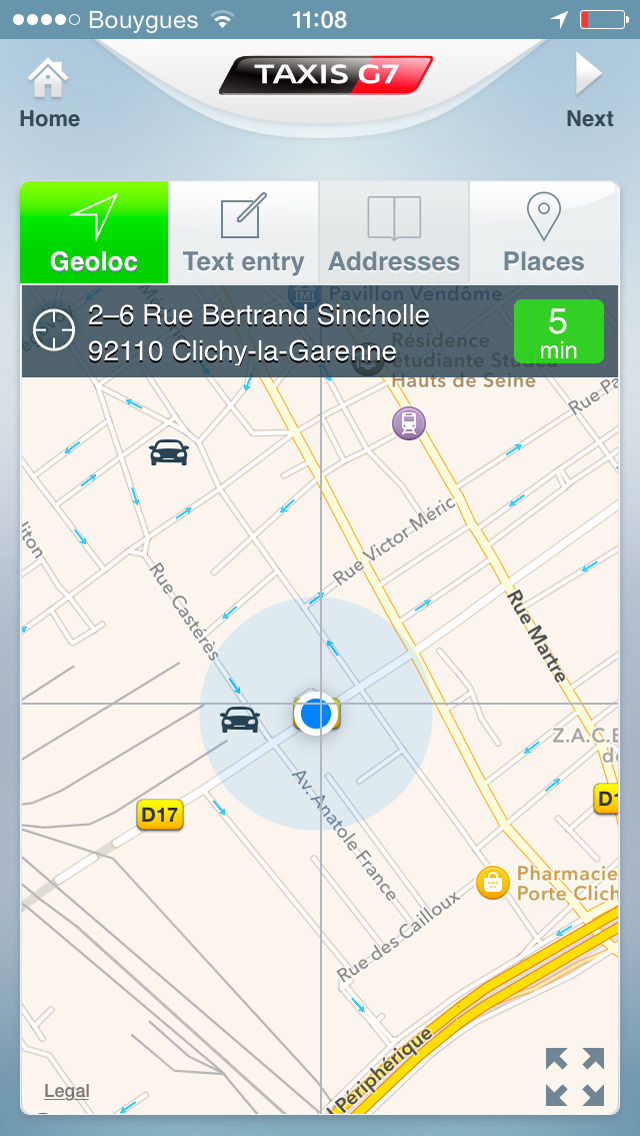 App shopper taxis g7 personal taxi order travel for Garage des taxis g7