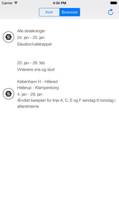 Live s-tog iPhone Screenshot 2