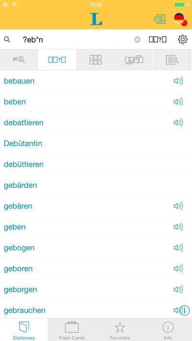 Chinese <-> German Talking Dictionary Langenscheidt Standard iPhone Screenshot 4