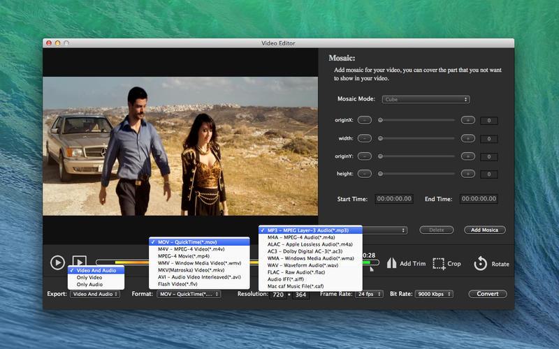 Video Edit - Mosaics Trim Rotate Crop Lite Screenshot - 5
