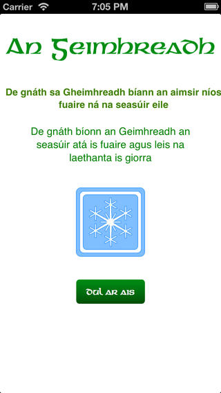 The Irish Seasons iPhone Screenshot 2