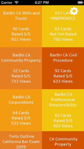 California Bar Exam Flash Cards