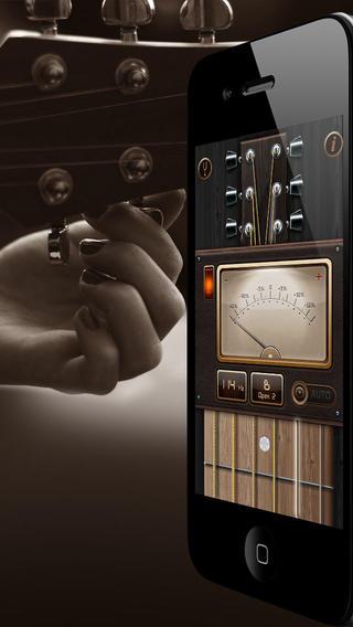 吉他调音器:用于您的原声吉他和电吉他调音或四弦琴!