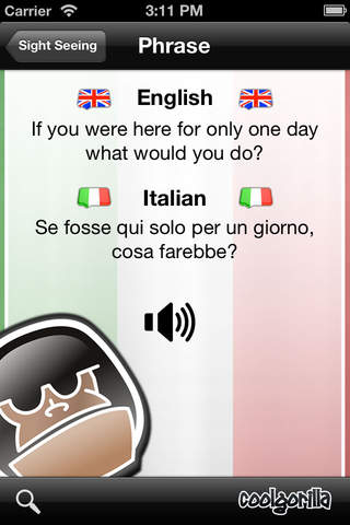 Italian Talking Phrasebook screenshot 4