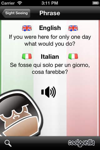 Italian Talking Phrasebook screenshot 4
