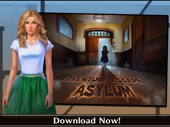 Screenshots of Adventure Escape: Asylum (Murder Mystery Room, Doors, and Floors Point and Click Story!) for iPad