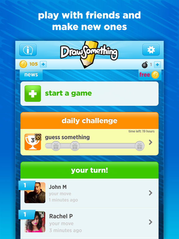 Screenshots of Draw Something Free for iPad