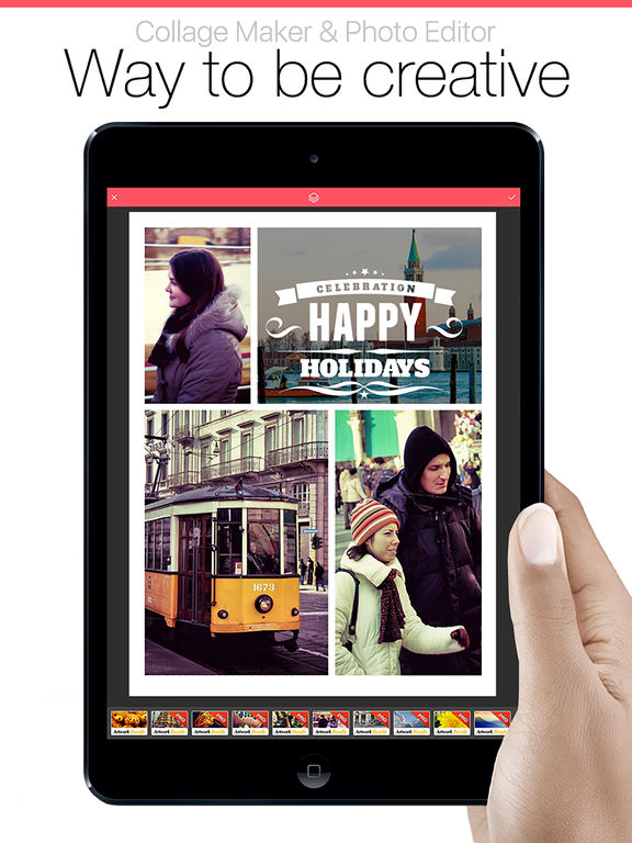 Pic Collage Jointer Grid - picture collage, camera effects and text plus photo editor Screenshots