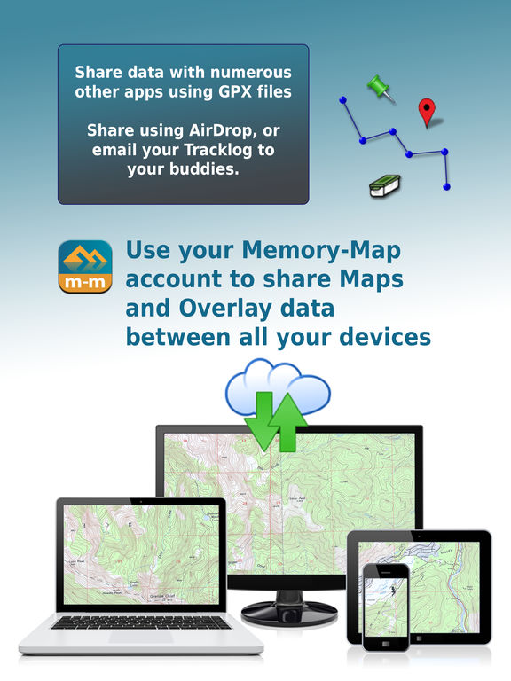 Memory-Map | GPS Navigation with offline topo maps and marine charts screenshot