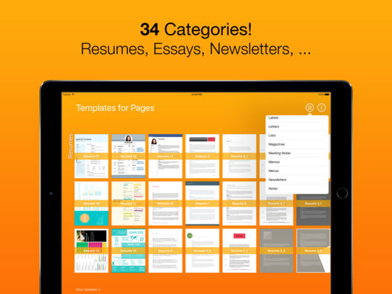 templates for pages for ipad iphone ipod touch on the app store