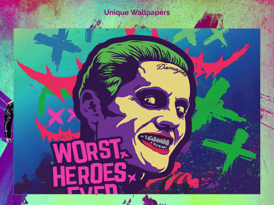 Screenshots of Unique Wallpapers for Suicide Squad Free HD for iPad
