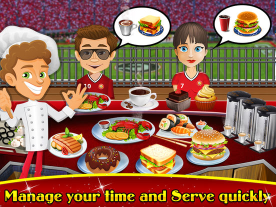 Soccer Stadium Fast-Food Cafeteria : Play best Master-Chef Ham-burger & Pizza Cooking Restaurantscreeshot 4