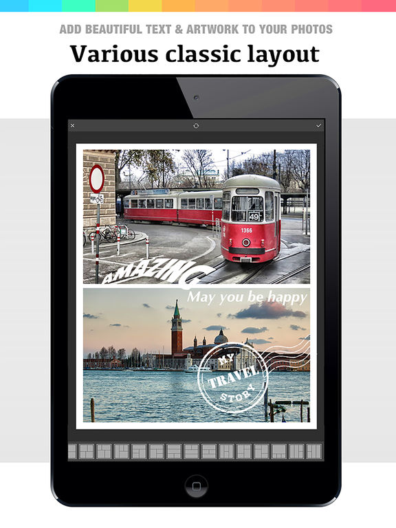 Collage 360 - photo editor, collage maker & creative design App Screenshots