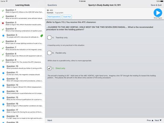 Study Buddy Test Prep (FAA Instrument Pilot) iPad Screenshot 3