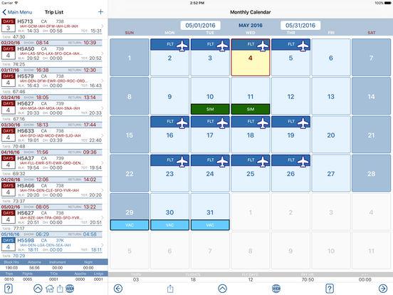 FltCrew-iLog ... Airline Crew Logbook iPad Screenshot 2