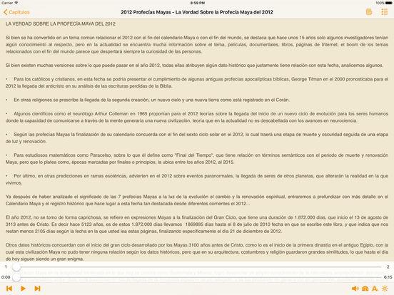 2012 Profecías Mayas - AudioEbook iPad Screenshot 1