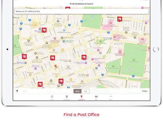 Australia Post Mobile iPad Screenshot 2