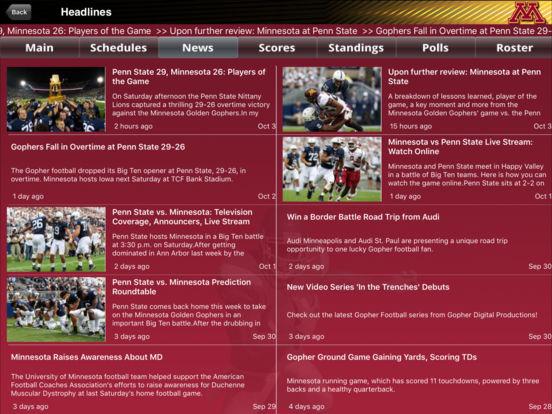 Minnesota Gophers College SuperFans iPad Screenshot 1