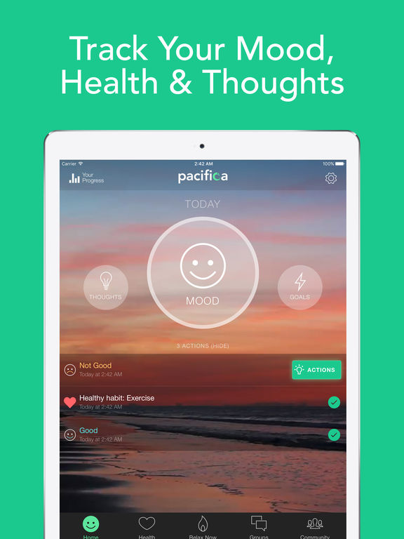 Pacifica - Anxiety, Stress, & Depression relief based on CBT & Mindfulness screenshot