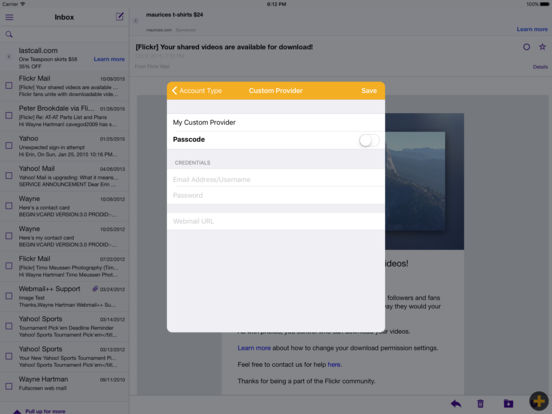 Webmail++ iPad Screenshot 1