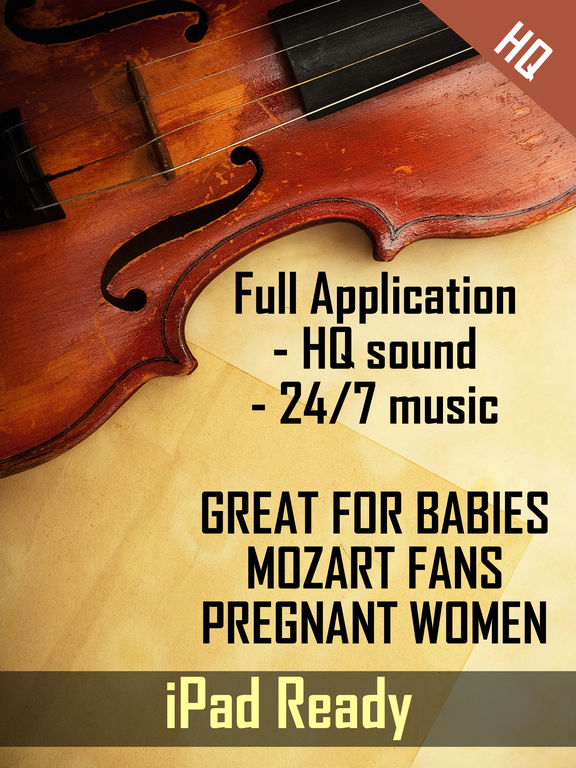 Mozart classic music online library - Listen to mozart concertos , sonatas , symphonies from live radio FM stations screenshot