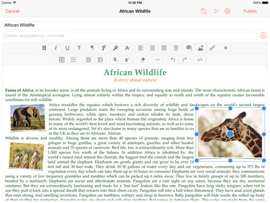 BlogTouch Pro (for Blogspot Blogger) Screenshots