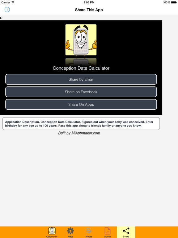Conception Date Calculator Screenshots