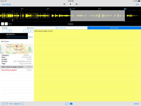 Smart Recorder/Transcriber - All Features Screenshots