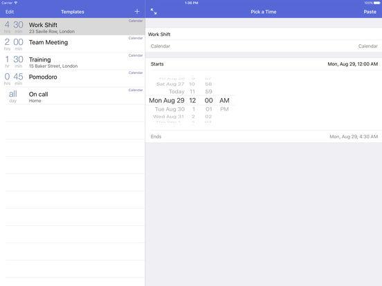 Calendar Paste 3 - Schedule events & shift work Screenshots