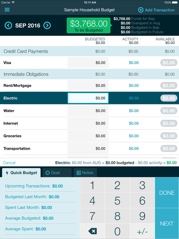 YNAB screenshot