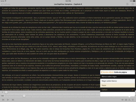 Los Espíritus Vampiros - AudioEbook iPad Screenshot 2