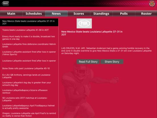 Louisiana Lafayette Ragin' Cajuns College SuperFans iPad Screenshot 3