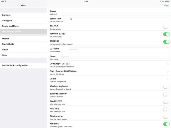 TN3270 iPad Screenshot 3