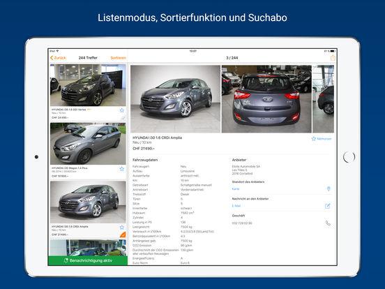 AutoScout24 – Online-Plattform für Occasionen und Neuwagen in der Schweiz iPad Screenshot 2